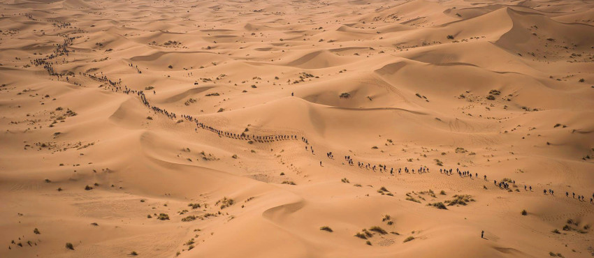 The Marathon des Sables is a six-day ultramarathon