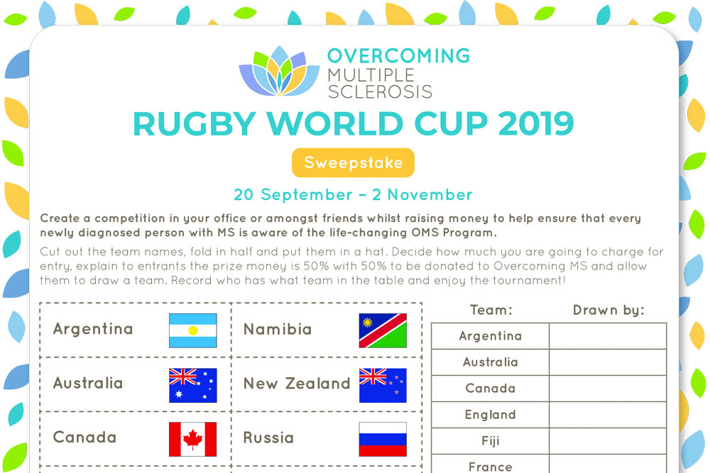 Rugby World Cup sweepstake