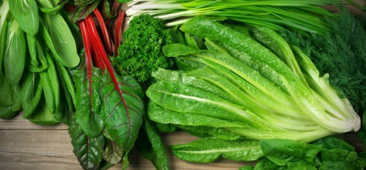 Green leafy veg is a great way to get calcium