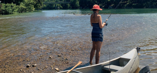 Susan fishing